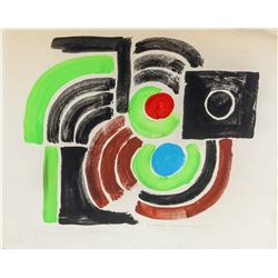 Sonia Delaunay French Abstract Mixed Media