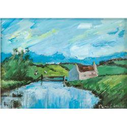 Daniel Garber American Impressionist Oil on Paper