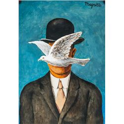 Rene Magritte Belgian Surrealist Tempera on Paper
