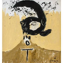 Antoni Tapies Spanish Abstract Oil on Canvas