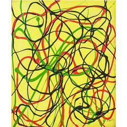 Brice Marden b.1938 American Oil Abstract Canvas