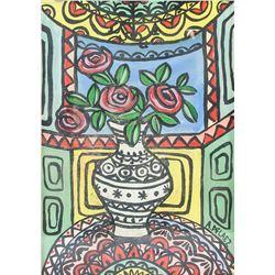 Amelia Pelaez 1896-1968 Cuban Gouache on Paper