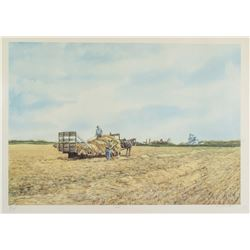 Armand Paquette b.1930 Canadian Lithograph Field