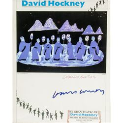 David Hockney UK Signed Exhibition Poster 1984