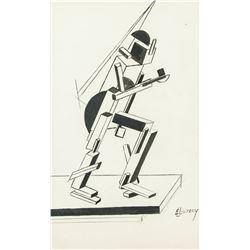 El Lissitzky 1890-1941 Russian Gouache Paper