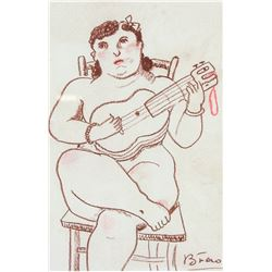 Fernando Botero b. 1932 Colombian Pencil on Paper