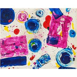 Sam Francis American Abstract Oil on Canvas