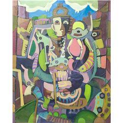 Stuart Davis American Abstract Oil on Canvas
