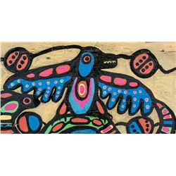 Norval Morrisseau Canadian Acrylic on Wood Panel
