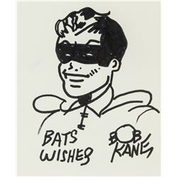 Bob Kane American Pop Ink on Paper Sketch Robin