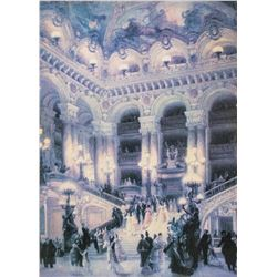 Framed Print on Canvas Ballroom Scene