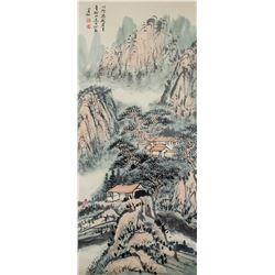 Huang Binhong 1865-1955 Chinese Watercolor Scroll