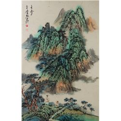 Zhang Daqian 1899-1983 Chinese Watercolor Roll