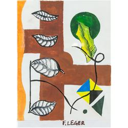 After Fernand Leger French Cubist Oil on Canvas