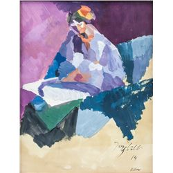 Jacques Villon French Cubist Gouache on Paper