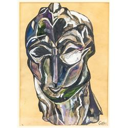 Naum Gabo British-Russian Constructivist Gouache