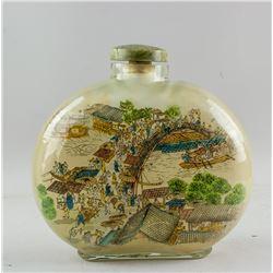 Large Chinese Peking Glass Snuff Bottle