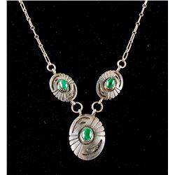 3 Malachite Stone Necklace