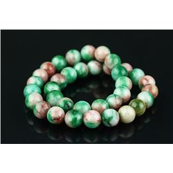 Chinese Green Hardstone Necklace
