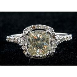 1.55ct Center & 0.40ct Side Diamond Ring
