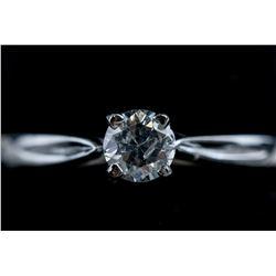 10K White Gold Diamond Solitaire Ring CRV$2100