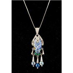 Lapis Men's Silver Necklace MK