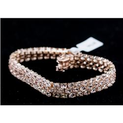 19.2 ct Morganite Tennis Bracelet CRV $1400