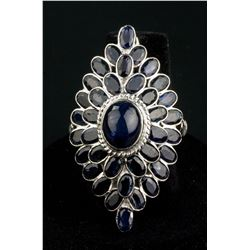 Sterling Silver 99.0ct Sapphire Ring CRV$1050