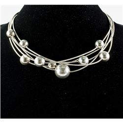 925 Silver Ball Necklace