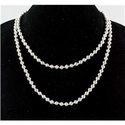 Heavy Round Beaded Silver Chain