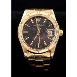 Rolex Oyster 18k Gold Perpetual Date Men's Watch