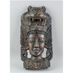 Southeastern Asian Wood Carved Woman Decoration