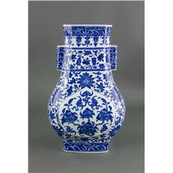 Chinese Blue and White Porcelain Vase Qianlong MK