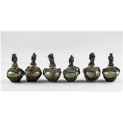 Six Assorted Chinese Porcelain Medicine Pots