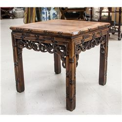 19/20th Century Chinese Huanghuali Square Table