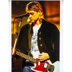 Kurt Cobain Autographed Photograph with JSA Letter