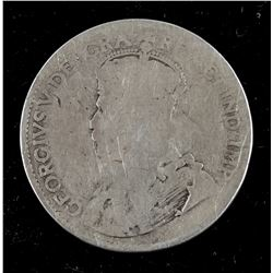 Canadian King George V 25 Cents with Stamped MK