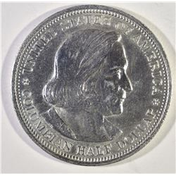1892 COLUMBIAN COMMEM HALF DOLLAR, GEM BU