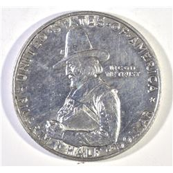 1920 PILGRIM COMMEM HALF DOLLAR, GEM BU