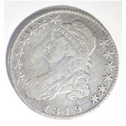 1819 BUST HALF DOLLAR, FINE