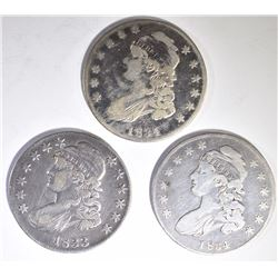 BUST HALF DOLLAR LOT: