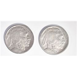1916-D VF & 1916-S VF BUFFALO NICKELS