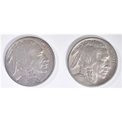 1917-D VF & 1917-S F/VF  BUFFALO NICKELS