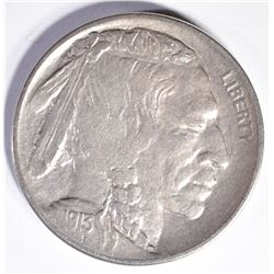 1913-D TYPE-2  BUFFALO NICKEL, AU KEY DATE