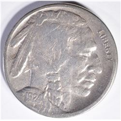1924-S BUFFALO NICKEL, VF