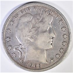 1903-O BARBER HALF DOLLAR  F