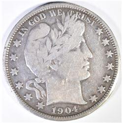 1904-O BARBER HALF DOLLAR  VG/F