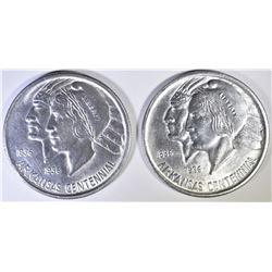 1935 & 1937 ARKANSAS CENTENNIAL HALF DOLLAR