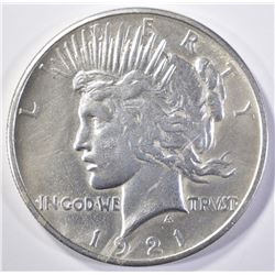 1921 PEACE DOLLAR  BU CLEANED