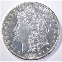 1884-S MORGAN DOLLAR  AU/BU